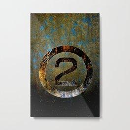 2 Metal Print