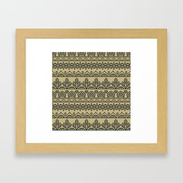 Stripes Mandala 7 Framed Art Print