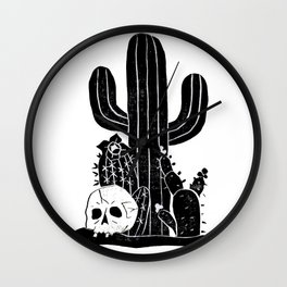 Valley Cactus V2 Wall Clock