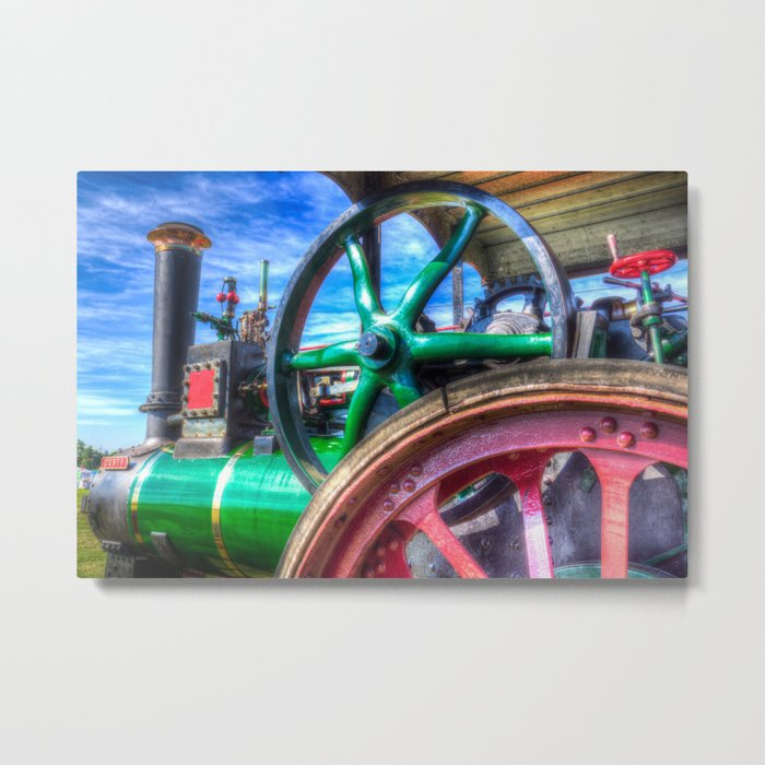 Clayton And shuttleworth Traction engine Metal Print