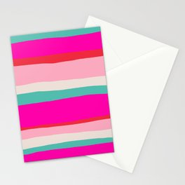 Candy Stripe Christmas Stationery Cards