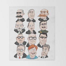 Presidents of Finland Throw Blanket