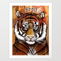 Emo (Coloured) Art Print