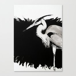 Inksplash Heron Canvas Print