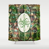 leah flores Shower Curtains featuring Leah (#TheAccessoriesSeries) by Wayne Edson Bryan