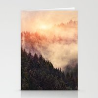 woods Stationery Cards featuring In My Other World by Tordis Kayma