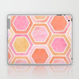 Desert Mood II - Watercolor Hexagon Pattern Laptop & iPad Skin