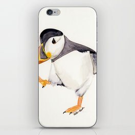 Waddle (Puffin) - animal watercolor painting iPhone Skin