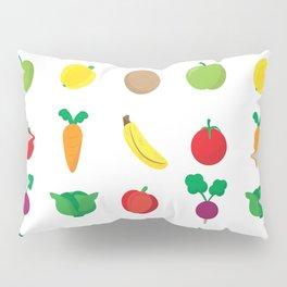 A Cute Concoction of Fruit and Vegetable. Vegan Heaven! Pillow Sham