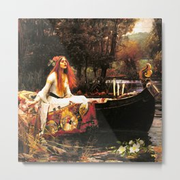 The Lady of Shalott Remastered Metal Print