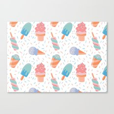 pastel ice cream pattern Canvas Print