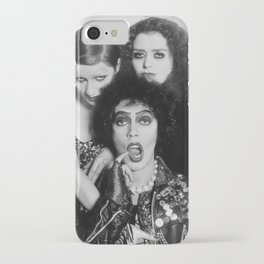 Rocky Horror Picture Show Print Tim Curry Poster Frank N Furter Film Movie Illustration Golden Age iPhone Case