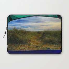 Gold Bluff Beach Camping Laptop Sleeve