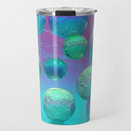 Ocean Dreams - Aqua and Indigo Ocean Universe Travel Mug