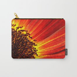 Orange Sunflower Macro Carry-All Pouch