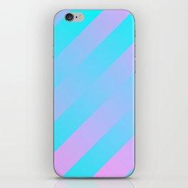 Stripes Diagonal Gradient Aqua & Pink iPhone Skin
