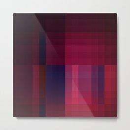 Square Form: Purple and Burgundy Metal Print