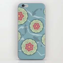 Koi Lotus Pond iPhone Skin