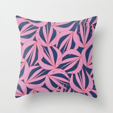 Line Work Floral Throw Pillow