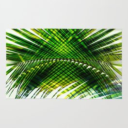Palm Frond Strong [green] Rug