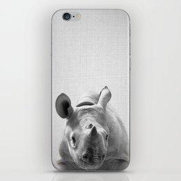 Baby Rhino - Black & White iPhone Skin