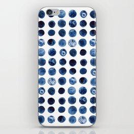 Indigo Circles Watercolor Pattern iPhone Skin
