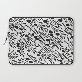 Black Olive Branches Laptop Sleeve