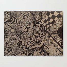 Black and Blanco Canvas Print