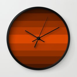 Sienna Spiced Orange - Color Therapy Wall Clock