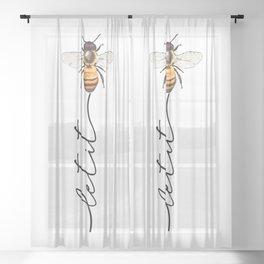 let it bee, let it bee...  Sheer Curtain