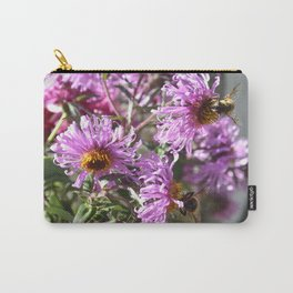 Two Busy Bees on Violet Flowers Carry-All Pouch