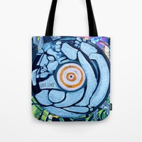 legs Tote Bags featuring Legs by Jade Cohen