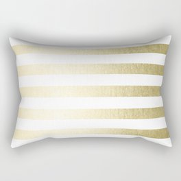 Simply Striped Gilded Palace Gold Rectangular Pillow