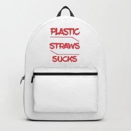 Plastic Straws Sucks Backpack