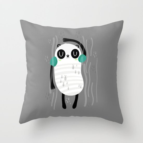 Contra corriente Throw Pillow