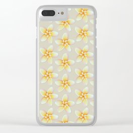 Yellow Flower, Floral Pattern, Yellow Blossom Clear iPhone Case