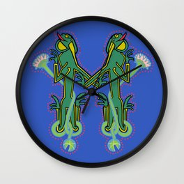 Medieval Frog Letter M Wall Clock