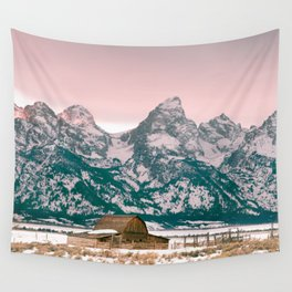 Grand Tetons Barn Wall Tapestry