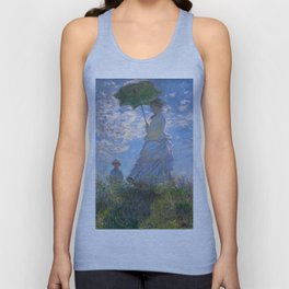 1875-Claude Monet-Woman with a Parasol - Madame Monet and Her Son-81 x 100 Unisex Tank Top