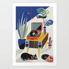Chill out Saturday Art Print