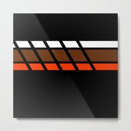 Team Colors 4...Brown ,orange Metal Print