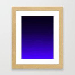 Deep Dark Indigo Ombre Framed Art Print