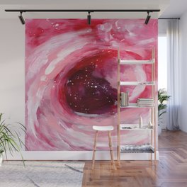 Ejaaz Haniff Abstract Acrylic Painting Colourful Romantic Red Pink 'Heart Break Galaxy' Wall Mural