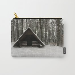 Log Hut In The Snow Carry-All Pouch