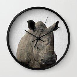 Rhino - Colorful Wall Clock