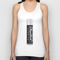 lesbian Tank Tops featuring CHAPSTICK LESBIAN by Studio 566 / Penny Collins