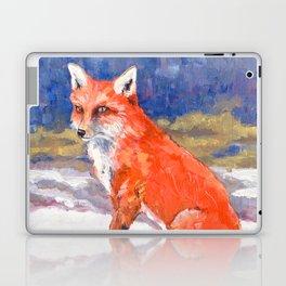 Fox in Snow Laptop & iPad Skin