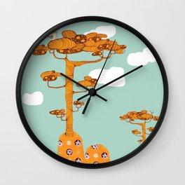 Trees. Wall Clock
