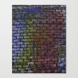 Brick textured wall on canvas ready for graffiti. Canvas Print