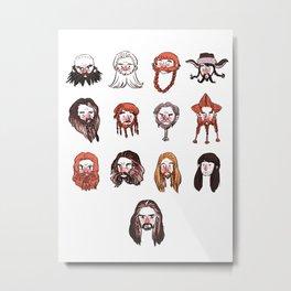 Just Dwarves Metal Print